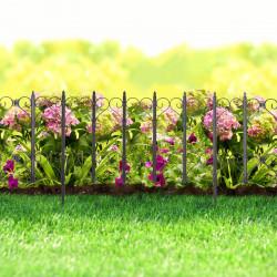 Bordura pt. pat de flori / gard - 61 x 30 - Negru