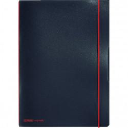 Caiet Herlitz MyBook Flex, logo rosu, A4, 40 file, matematica, coperta PP, negru