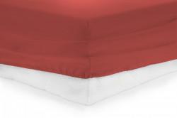 CEARCEAF PAT CU ELASTIC 140X200 CM - RED