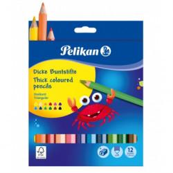 Creioane colorate 12 culori Pelikan