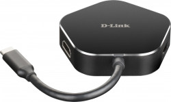 "HUB extern D-LINK, porturi USB 3.0 x 2, HDMI x 1, USB Type C x 1, conectare prin USB 3.0 Type C, cablu 11.5 cm, negru, ""DUB-M420"" (include timbru verde 0.75 lei)"