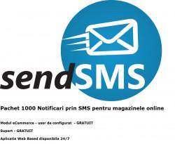 Pachet 1000 notificari prin SMS pentru magazine online - solutie web based