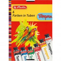 Set Tempera Herlitz, 16ml, 6 buc/set
