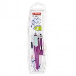 Stilou Herlitz My.Pen pentru stangaci Mov/Mint, Blister