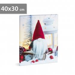 Tablou de Crăciun cu LED, 40 x 30 cm