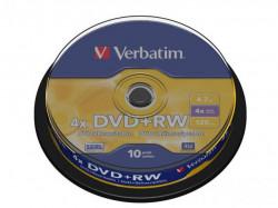 Verbatim DVD+RW 4X spindle 10