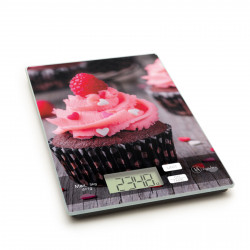"""Vog und Arths - Cântar de bucătărie, 5 kg, model """"muffin roz"""""""