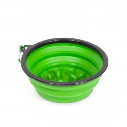 Yummie - Bol pliabil - pentru hrănire lentă - verde - 1000 ml