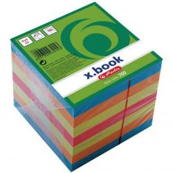 Bloc notite color Herlitz, 9x9x9 cm, 700 file