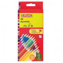Creioane color triunghiular 1/1 set 24