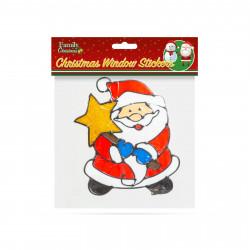 Decor fereastră de Crăciun - Moș Crăciun - 18 x 18 cm