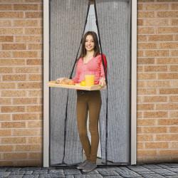 Perdea anti-ţânţari pt. uşi <br>închidere magnetică, 100 x 210 cm, Model floral