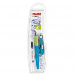 Stilou Herlitz My.Pen pentru stangaci Albastru/Neon, Blister