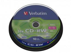 Verbatim CDRW 8-12X 10PK SPINDLE DLP