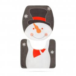 Capac de toaletă - model de sărbători, Om de zapada