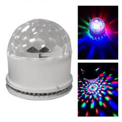 EFECT UFO ASTRO LED RGB 3W CU BT SI DIFUZOR INCORPORAT - ALB