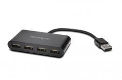 "HUB extern KENSINGTON, porturi USB: USB 2.0 x 4, conectare prin USB 2.0, cablu 0.1 m, negru, ""K39120EU"""