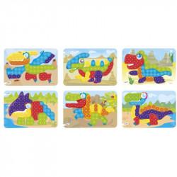 Joc educativ mozaic Miniland, 90 piese