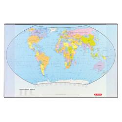 Mapa pentru birou Herlitz, Harta lumii, 70 x 45 cm