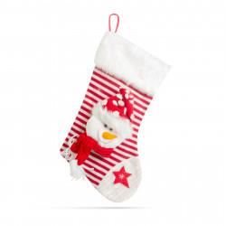 Șosete de Crăciun cu agățătoare, pentru cadouri - 52 x 28 cm