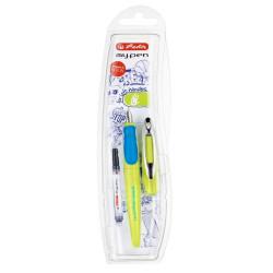Stilou Herlitz My.Pen pentru stangaci Lemon/Albastru, blister