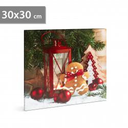 Tablou de Crăciun cu LED, 30 x 30 cm