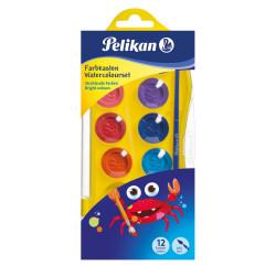 Acuarele Pelikan Junior, 12 culori