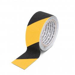 Banda adeziva, antiglisanta - 5m x 50 mm - galben / negru
