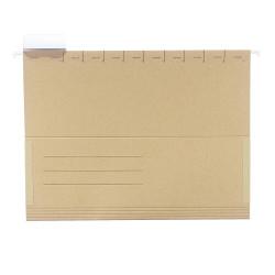 Dosar suspendat carton Herlitz, A4, cu burduf, 50 buc