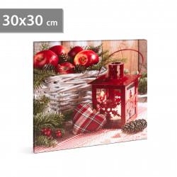 Imagine de dispoziție LED de Crăciun - cu cuier de perete, 2 x AA, 30 x 30 cm