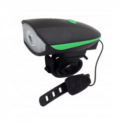 Lanterna LED cu sonerie bicicleta, Esperanza, 100 lm, fixare ghidon, 3 moduri iluminare, rezistenta apa