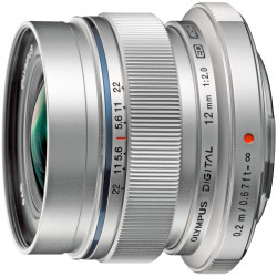 Obiectiv Olympus EW-M1220 Zuiko Digital ED 12mm 1:2.0, Silver