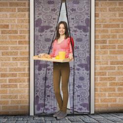 Perdea anti-ţânţari pt. uşi cu închidere magnetică 100 x 210 cm, Model fluturi violeţi