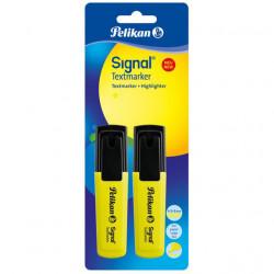 Set 2 textmarker Pelikan Signal, blister, galben fluorescent