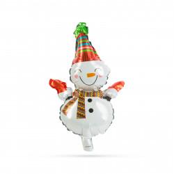 Baloane de Crăciun - om de zăpadă - aluminiu - 30 x 18 cm