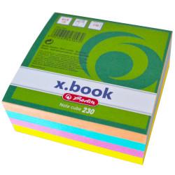 Bloc notite color Herlitz, 8x8x3 cm, 230 file