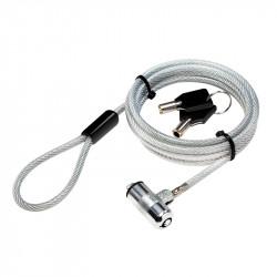 """CABLU securitate LOGILINK pt. notebook, slot standard, 2 chei standard, 1.5m, cablu otel ultra-slim, permite pivotare si rotire cablu, """"NBS009"""""""