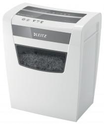 "Distrugator manual documente Leitz IQ Home Office, 10 coli, P4, cross-cut (tip confeti), cos 23 coli, alb, Leitz ""80090000"""