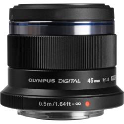 Obiectiv Olympus M.ZUIKO DIGITAL 45mm 1:1.8, negru