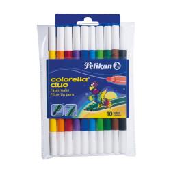 Set carioci Pelikan Duo, C407, blister, 10 buc/set