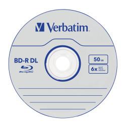 Verbatim BD-R DUAL LAYER 50GB 6X WHITE BLUE SURFACE SP10