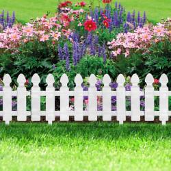 Bordura pt. pat de flori / gard - 51 x 30 cm - alb
