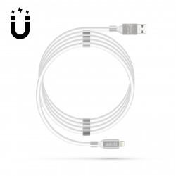 "Cablu de date magnetice - ""Fulger"" - 2A - alb"
