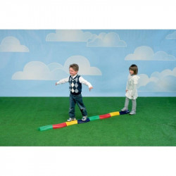 Set traseu motricitate blocuri semisferice Active Play, 12 caramizi, 4 culori