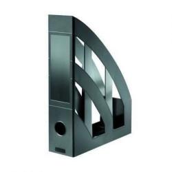 Suport vertical din plastic Herlitz Clasic, 76 mm, negru