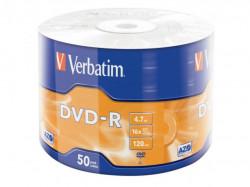 Verbatim DVD-R 16X 50PK WRAP 4.7GB MATT SILVER