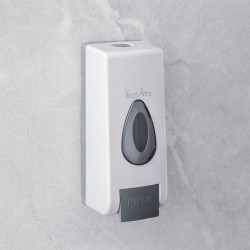 Vog und Arths - Dozator manual de săpun lichid - 350 ml, de perete -alb