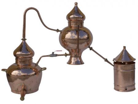 Cazan Premium pentru Cognac, Alambic Charental 20 Litri, Distilare Continua