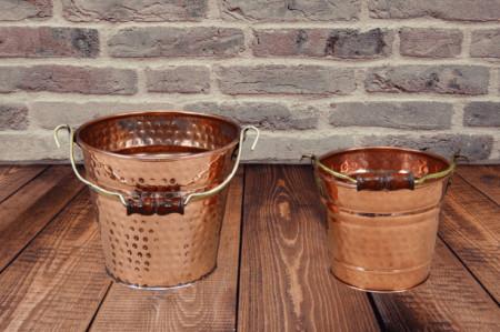 Galeata din Cupru pentru Gheata, Apa, Sticle de Vin, Sampanie, 2 Litri