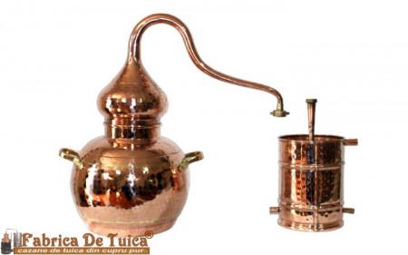 Alambic Tuica Cupru Pur 15 Litri, cu Termometru Inlcus